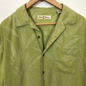 Tommy Bahama Green Short Sleeve S Floral Silk